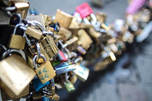 Free stock photo of love, love padlock, locks, engagement
