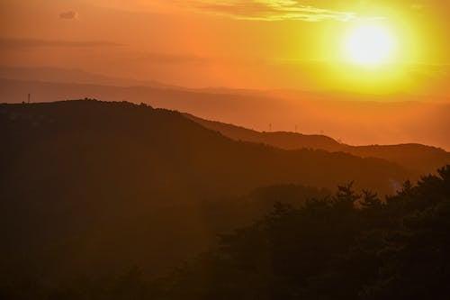 atardecer, 太陽の無料の写真素材