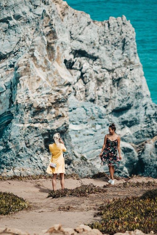 Kostnadsfri bild av bildtagning, Framställ, hav, klippa