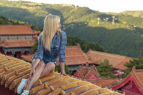 Imagine de stoc gratuită din acoperiș, arhitectură, arhitectura chineză, blondă
