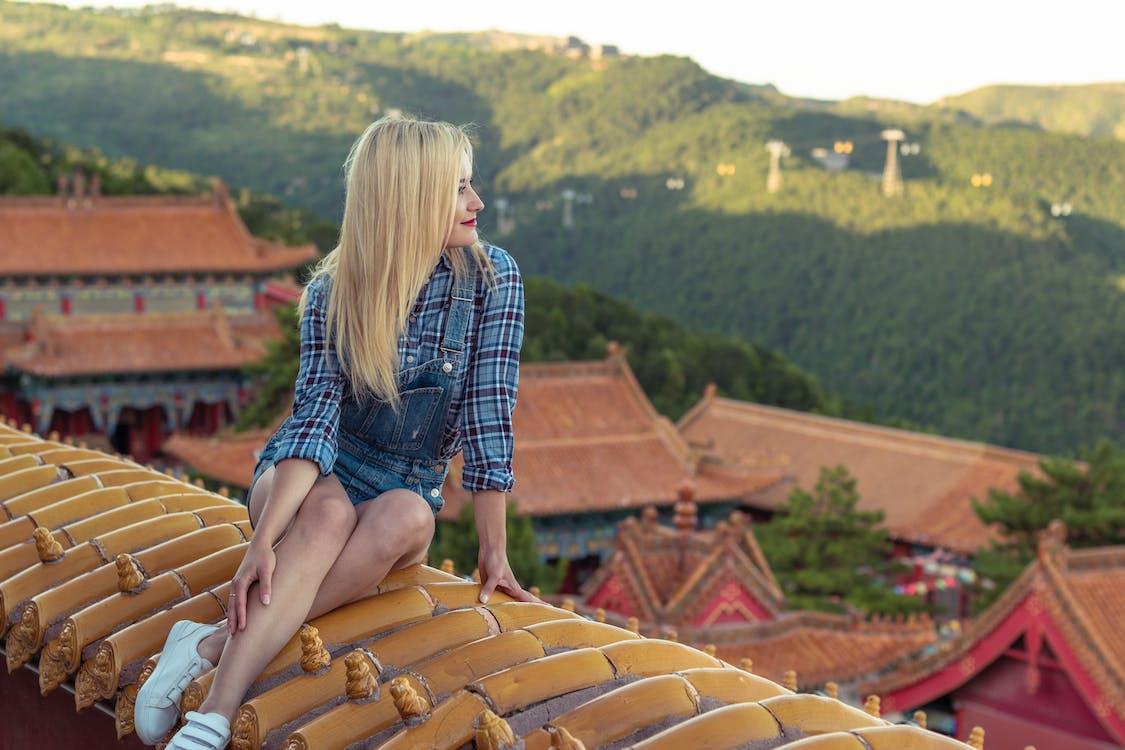 arkitektur, blond, byggnad