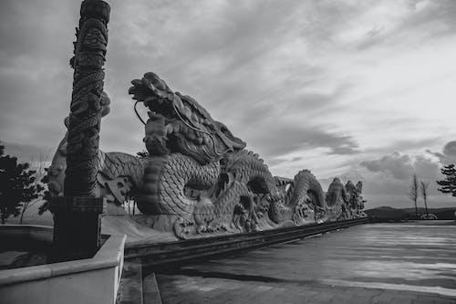 Imagine de stoc gratuită din arhitectura chineză, cu balaurul dragonului