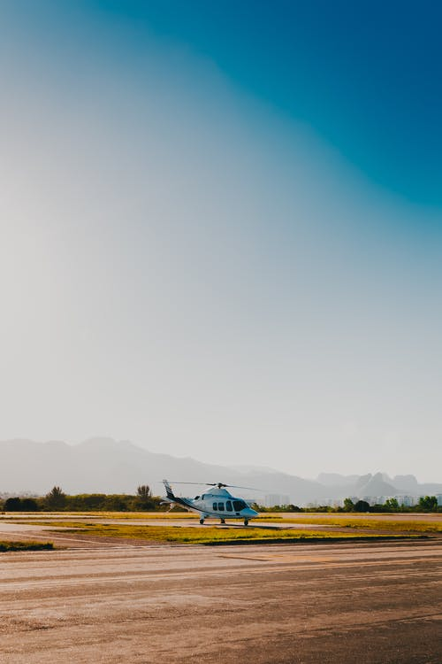 White Helicopter to Land