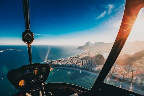 Darmowe zdjęcie z galerii z budynki, helikopter, jasny, krajobraz