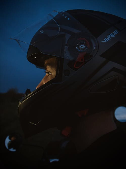 Free stock photo of helmet, man, motor bike