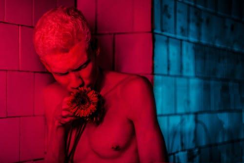 Ảnh lưu trữ miễn phí về áo ngực trần, cánh hoa, Chân dung, chàng