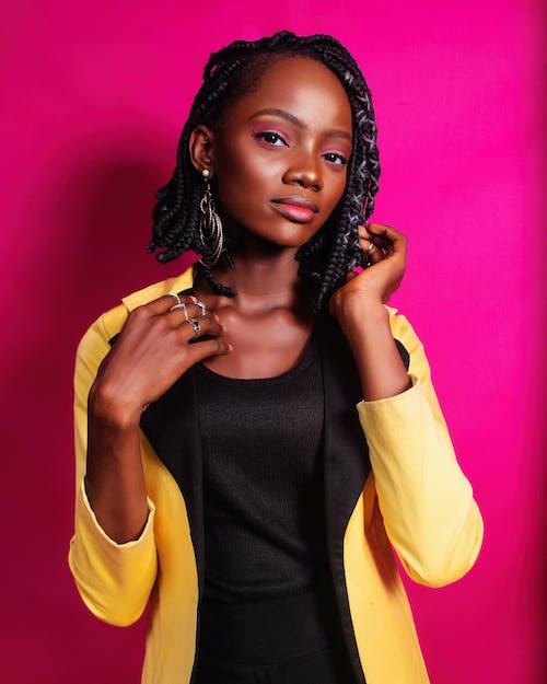 Бесплатное стоковое фото с афро-американка, блейзер, выражение лица, гламур