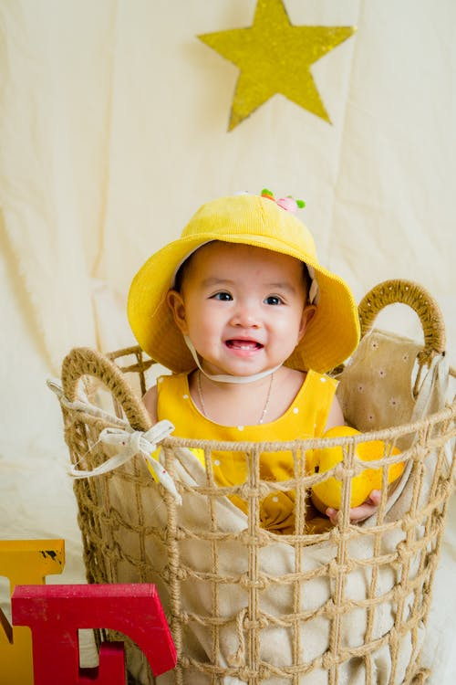 Baby's Yellow Scoop-neck Shirt