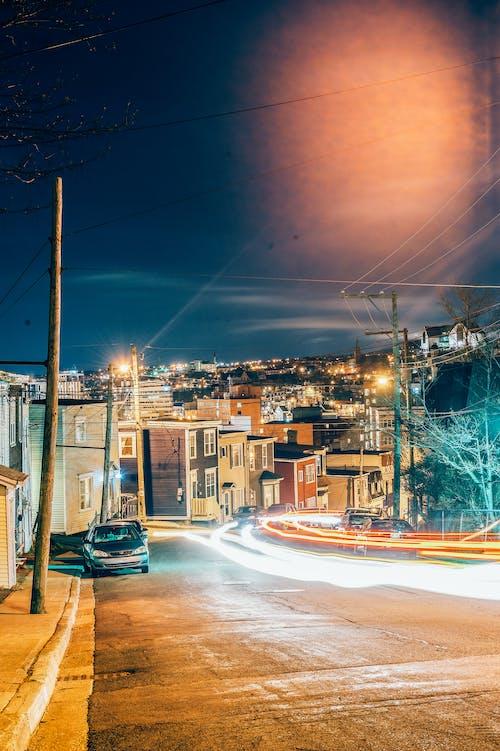 交通系統, 光迹, 反射, 城市 的 免費圖庫相片