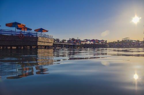反射, 建築, 旅行, 日落 的 免費圖庫相片