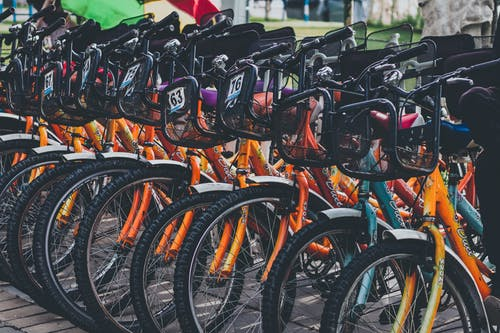 Parked Racing Bicycles