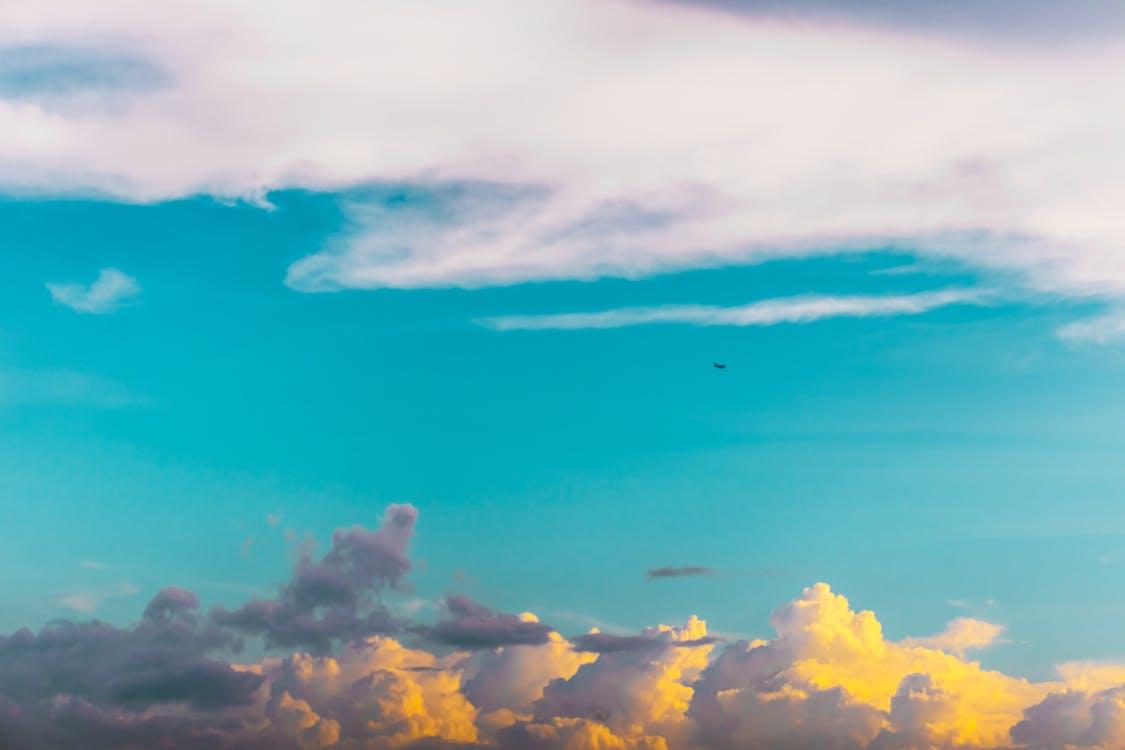 4k-baggrund, atmosfære, blå himmel