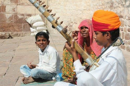 印度传统, 現場音樂, 藝術, 頭巾 的 免费素材照片