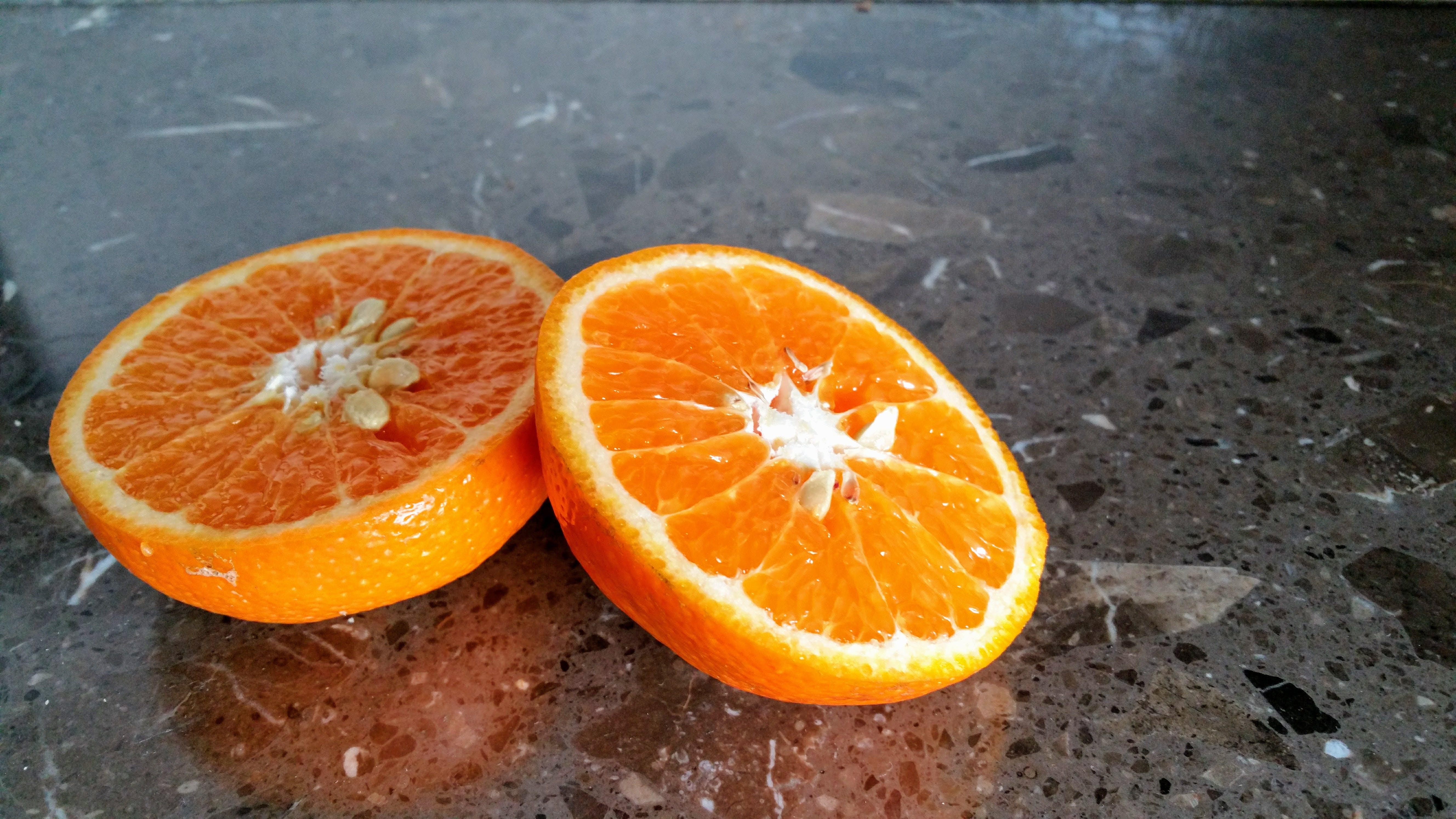 с апельсин, здоровый, куски, ломтик