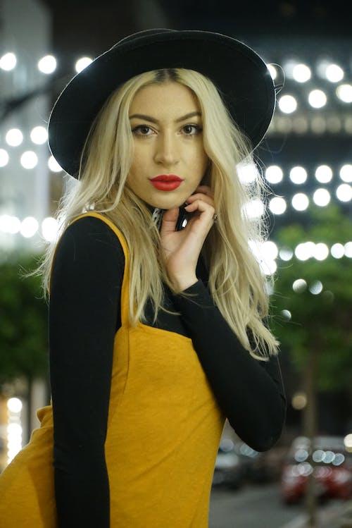 Women's Yellow and Black Dress
