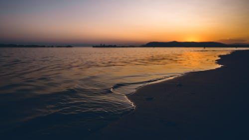 ゴールデンアワー, シースケープ, ビーチ, 反射の無料の写真素材