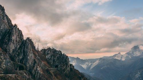 Wide Angle Photography of Mountain Range