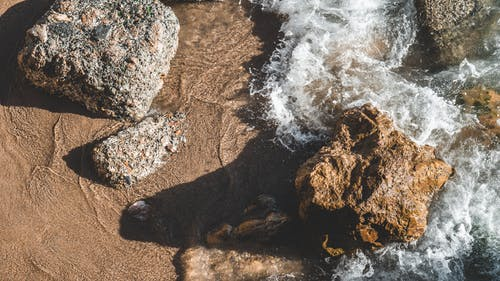 Free stock photo of macro, rocks, seawater