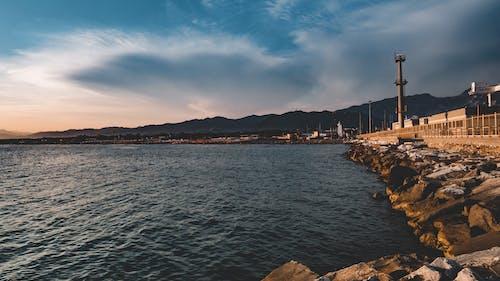 Ảnh lưu trữ miễn phí về góc rộng, Hải cảng, Hoàng hôn, màu xanh da trời