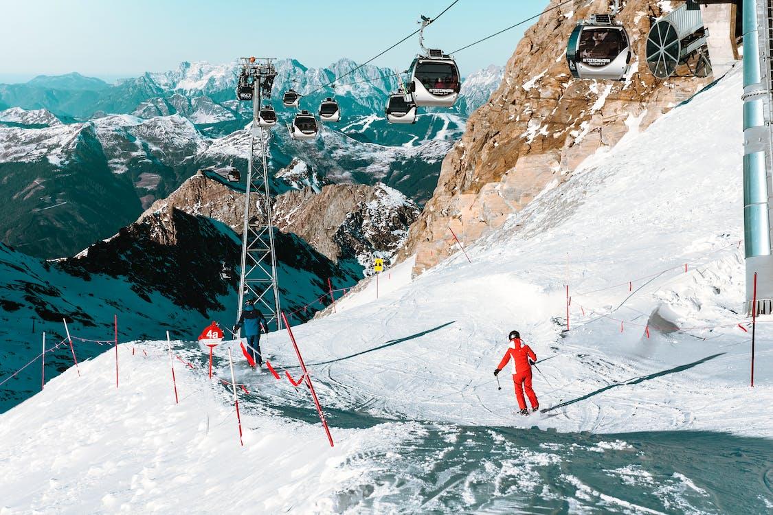 alpin, bakke, bjerg
