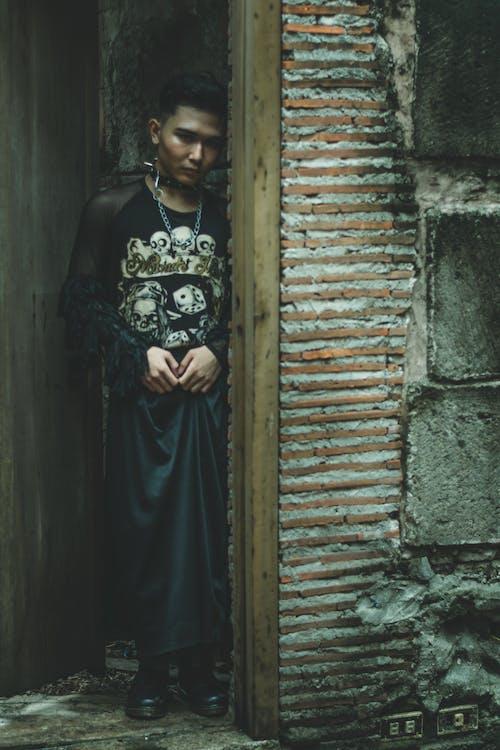 Бесплатное стоковое фото с азиат, выражение лица, дверной проем, жуткий