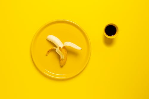 Yellow Banana on Plate