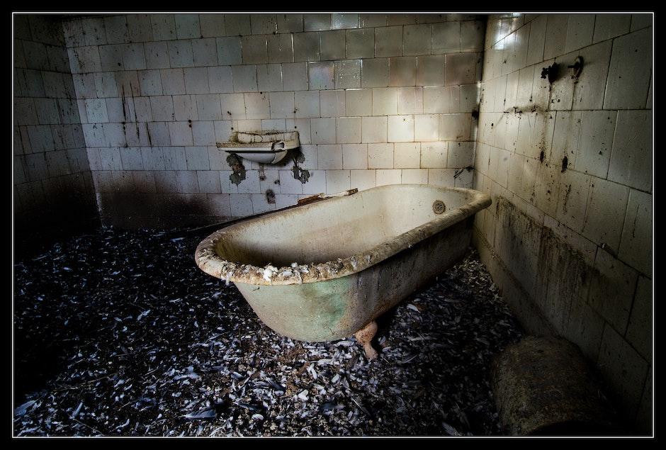Baño bañera Bath Bathroom Old Dirty