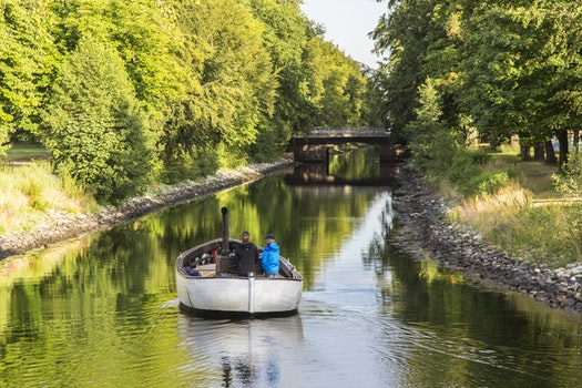Free stock photo of boat, canal