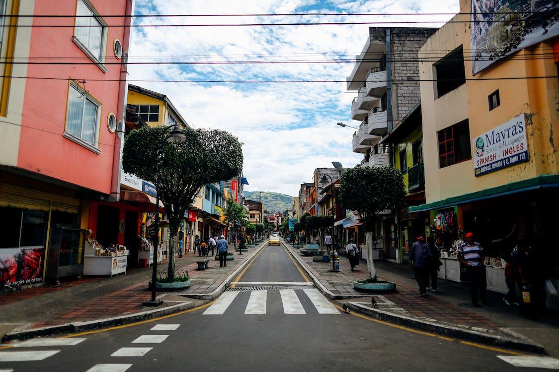 Asphalt Road Between Buildings