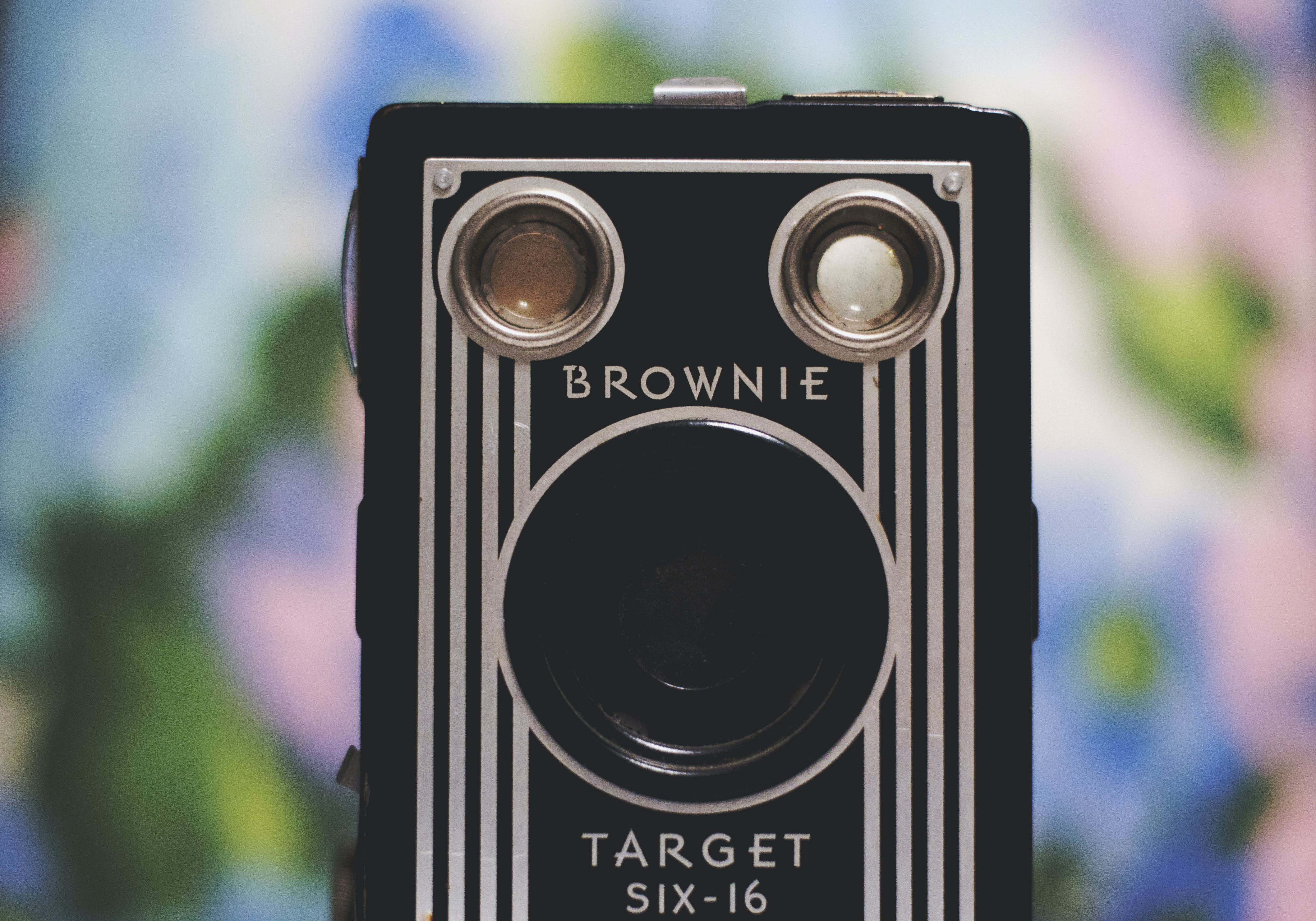 Tilt Shift Lens Photography of Black and White Brownie Camera
