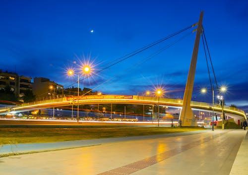 alacakaranlık, şehir Işıkları içeren Ücretsiz stok fotoğraf