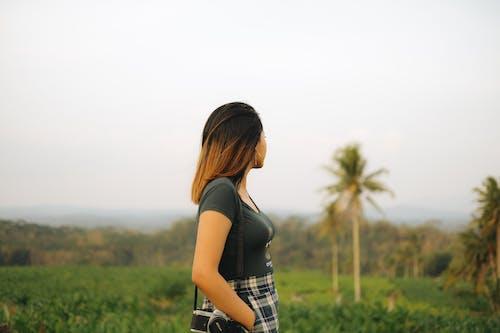 Photo Of Woman Wearing Grey Shirt