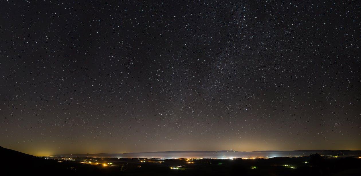Photo Panoramique Du Ciel En Soirée