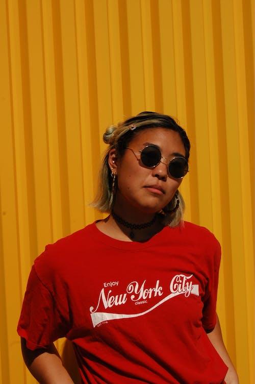 gözlük, Güneş gözlüğü, Kadın, portre içeren Ücretsiz stok fotoğraf