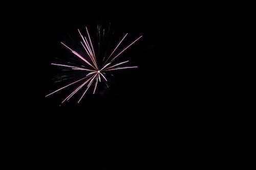 Základová fotografie zdarma na téma detail, minimalismus, nový rok, ohňostroje