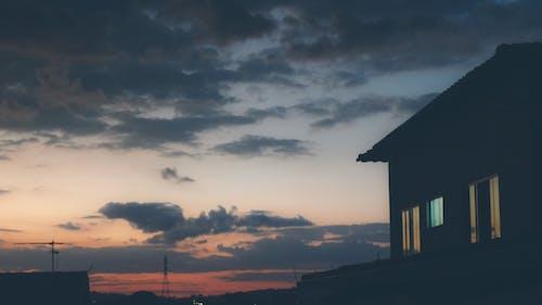 açık, Ahududu, akşam Güneşi, bulutlar içeren Ücretsiz stok fotoğraf