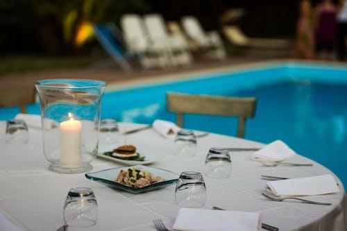 Základová fotografie zdarma na téma jídelní stůl, jiskra, noční stůl, restaurace