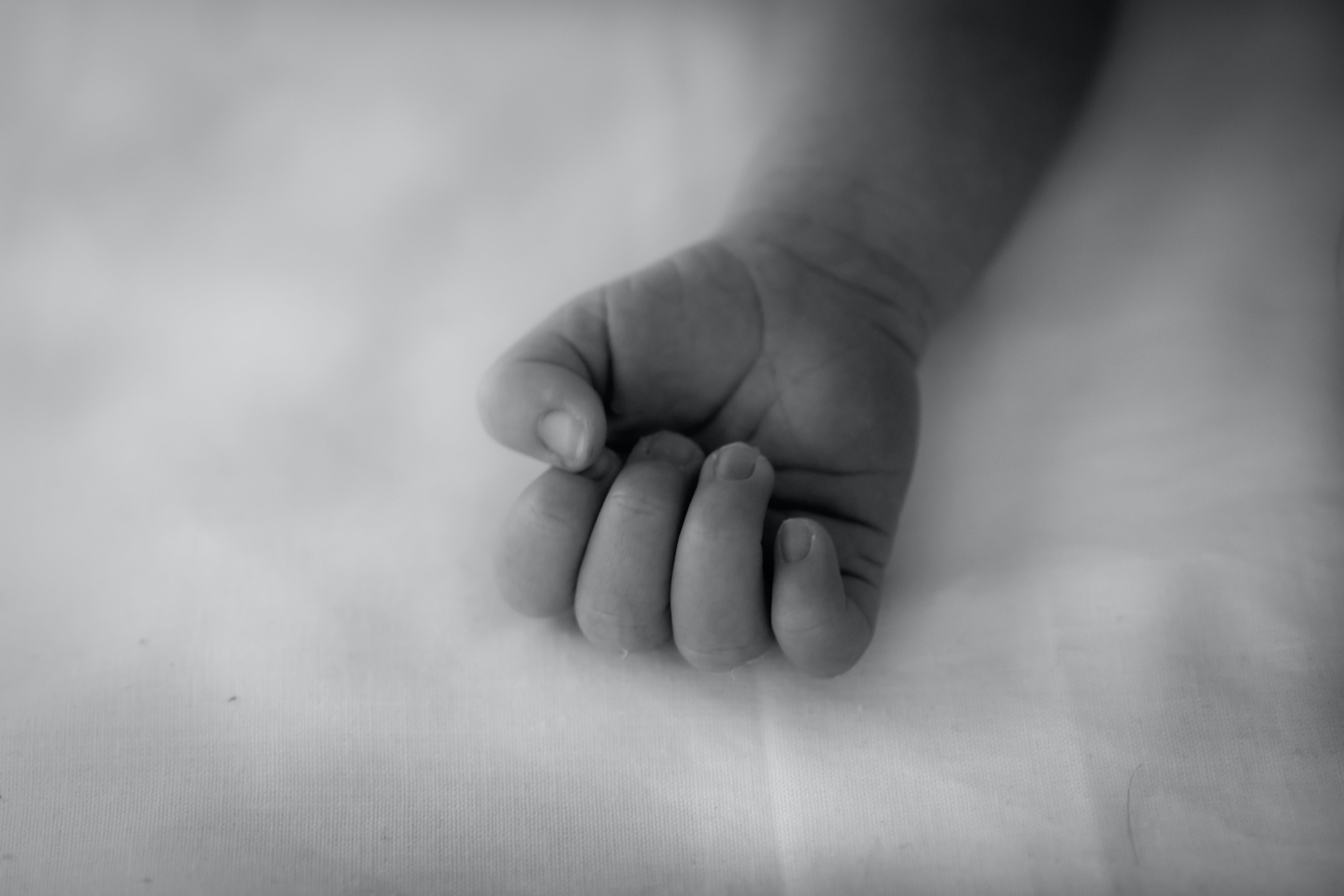 Free stock photo of baby, fist, hand, little girl