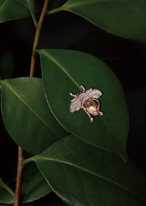 Rose Gold-colored Insect Pendant