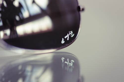 Close-Up Photo of Black Framed Sunglasses