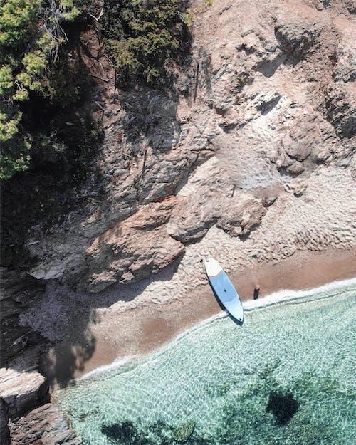 Mavi Ve Beyaz Sörf Tahtası