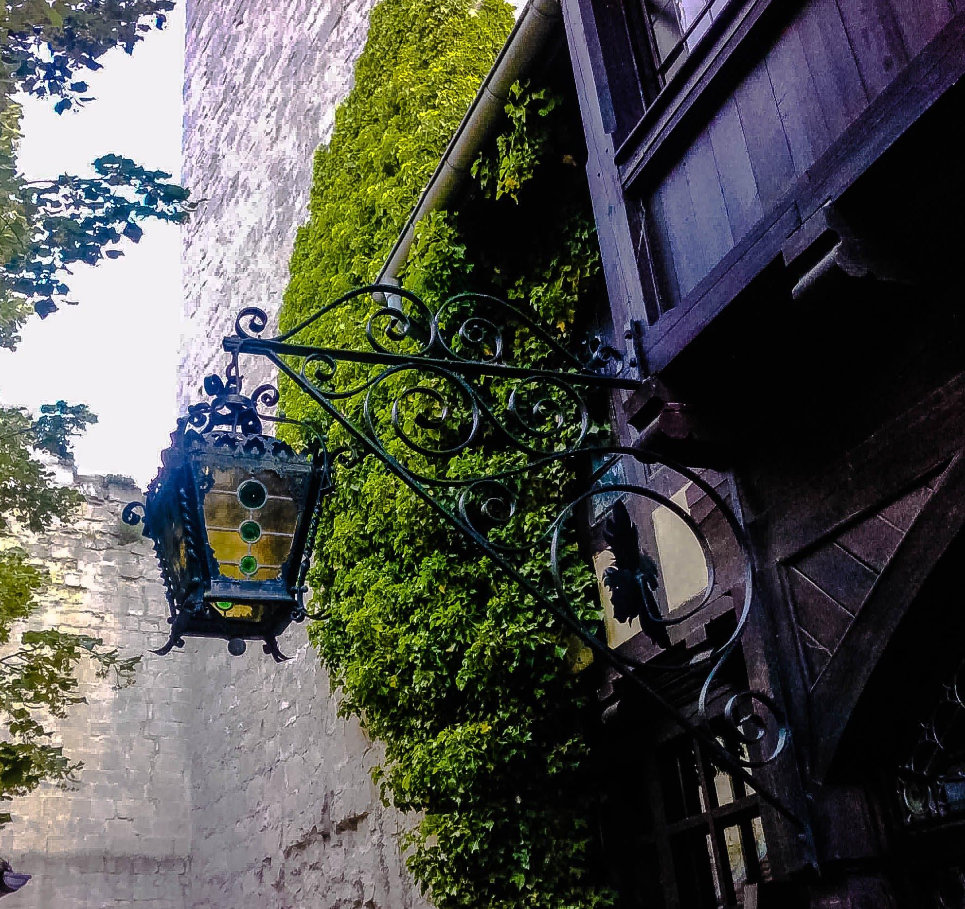 Free stock photo of lamp, castle, Rudelsburg