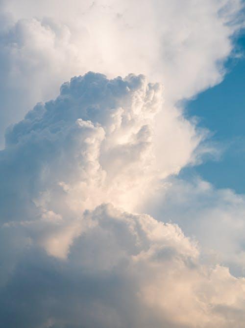 Бесплатное стоковое фото с голубое небо, голубой, небо, облако