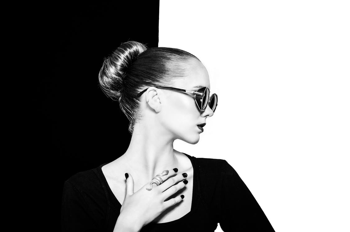 bianco e nero, fotografia di ritratto, gobo