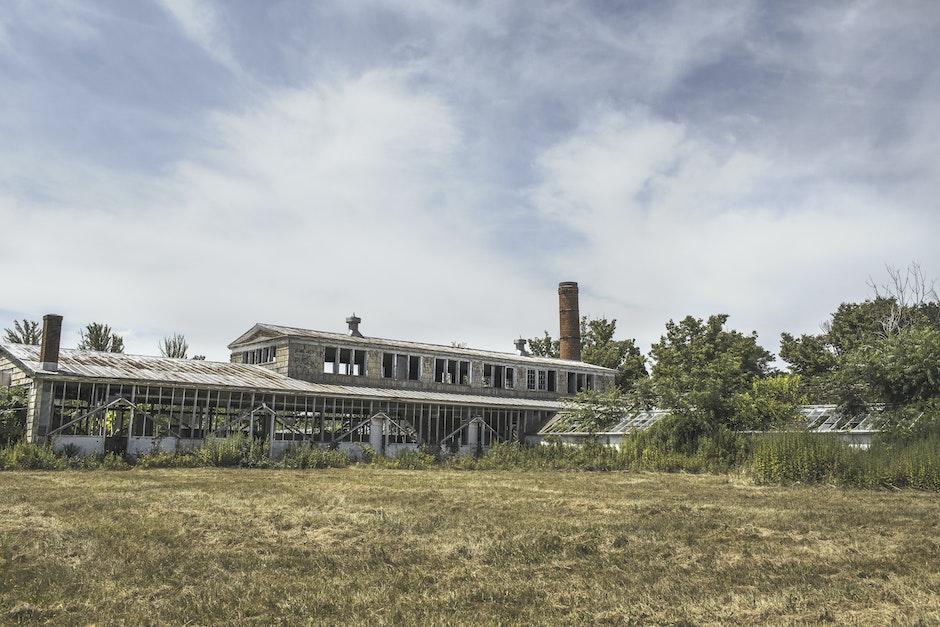 broken, building, dilapidated