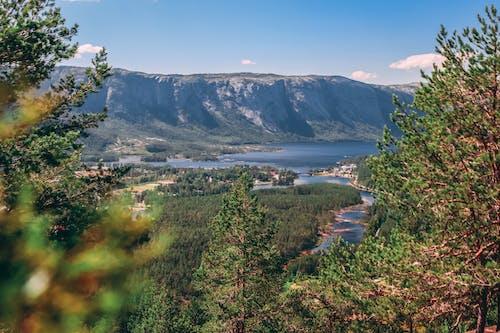 Gratis lagerfoto af 4k-baggrund, å, bjerge, blå himmel
