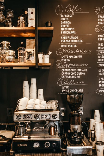 Coffee equipment bar