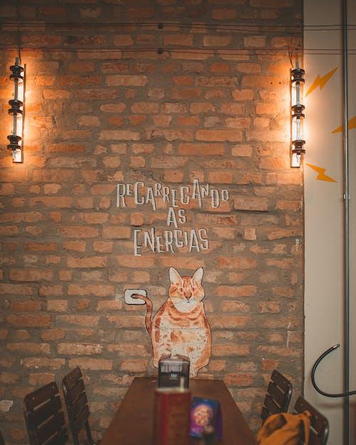 Základová fotografie zdarma na téma cihlová zeď, dekorace, design, design interiéru