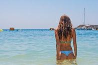 sea, person, beach