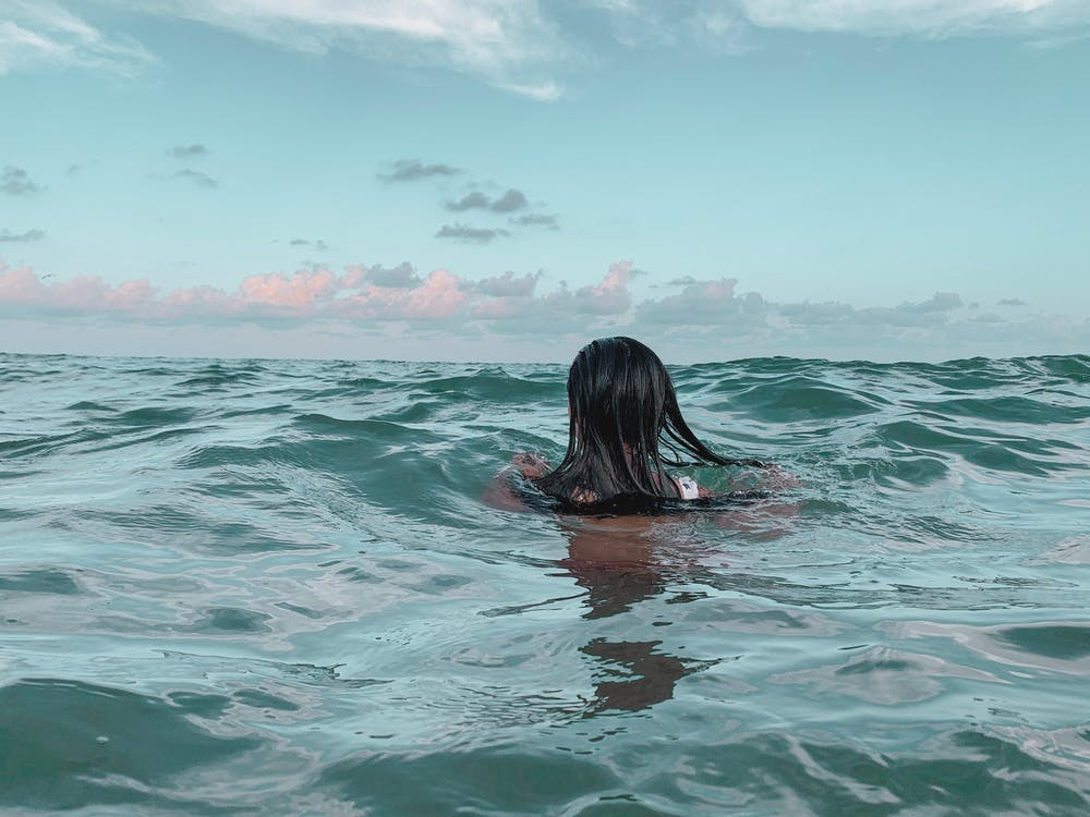 ทะเล, น้ำ, ผู้หญิง